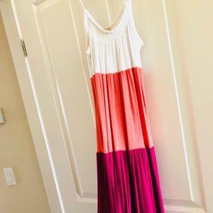 Ella moss colorblock maxi dress